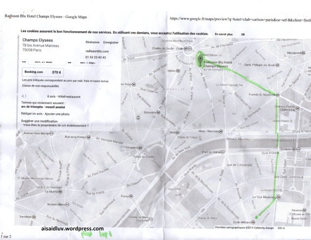 Map how to find hotel when i lost in Paris