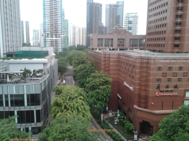 hotel di Orchard Road - view from Grand Park Orchard Road