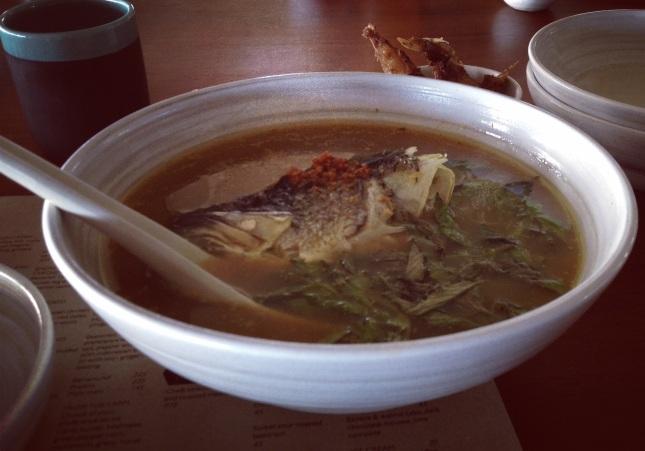 Sop kepala ikan include nasi 😄