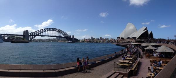 Harbour bridge Sydney and Sydney opera house